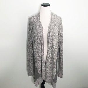 LANE BRYANT Gray Open Front Cardigan Sweater